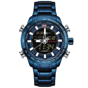 Waterproof Chronograph Sport Analog Quartz Watches