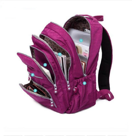 Waterproof School Backpack For Teenage Girl