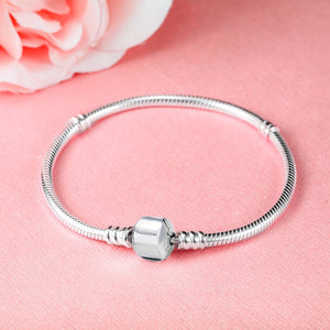 Pure 925 Sterling Silver Snake Chain Bangle & Bracelet For Women