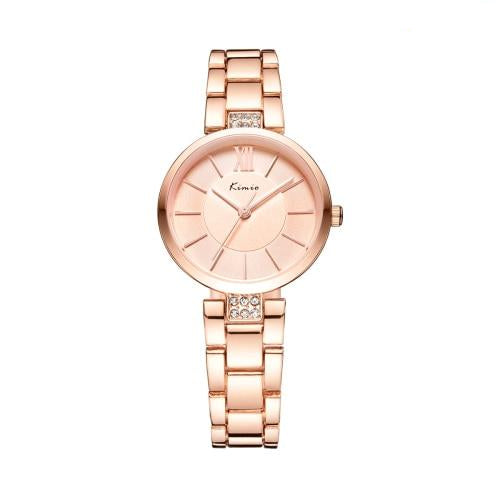 Small Simple Rose Gold Quartz Watch For Women