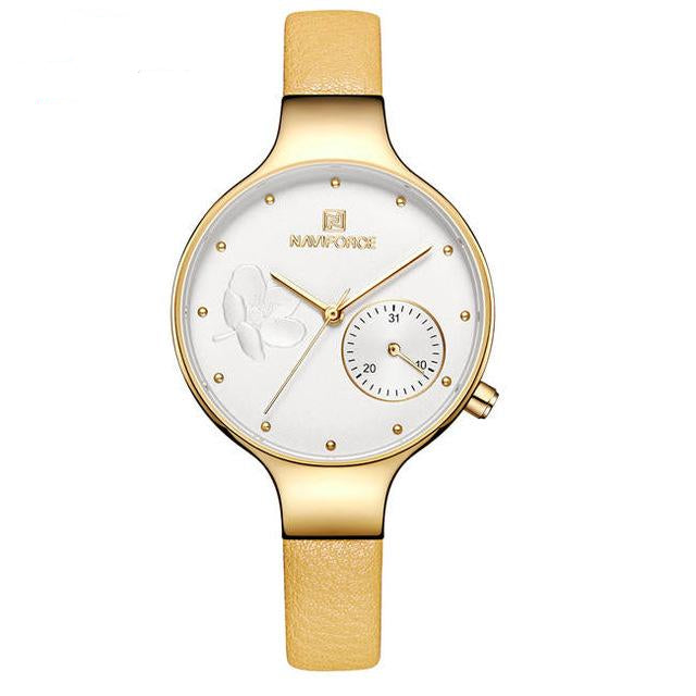 Leather High Quality Casual Waterproof Wristwatch For Women