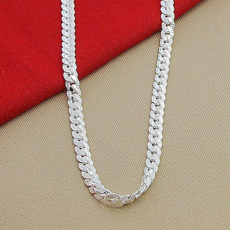 Snake Chain Necklaces With 925 Sterling Silver Necklace For Women And Men