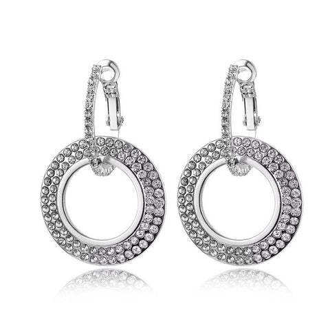 Cubic Zirconia Silver Stud Earrings for Women With 925 Sterling Sliver
