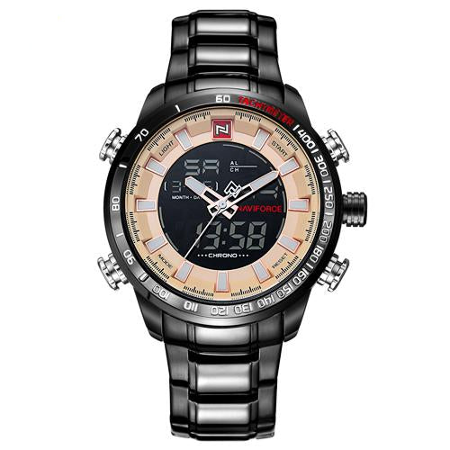 Men Quartz Analog Luxury Fashion Sport Waterproof Stainless Watches