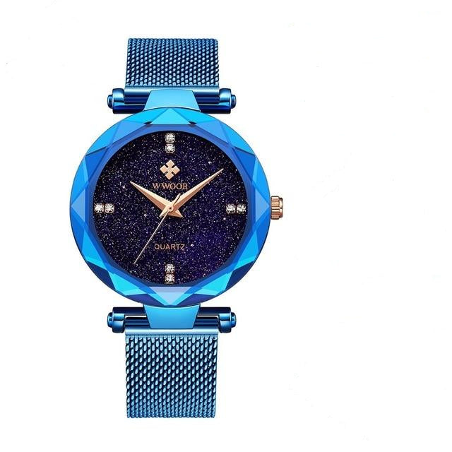 New Unique Design With Stainless Steel Mesh Casual Band Watch For Women