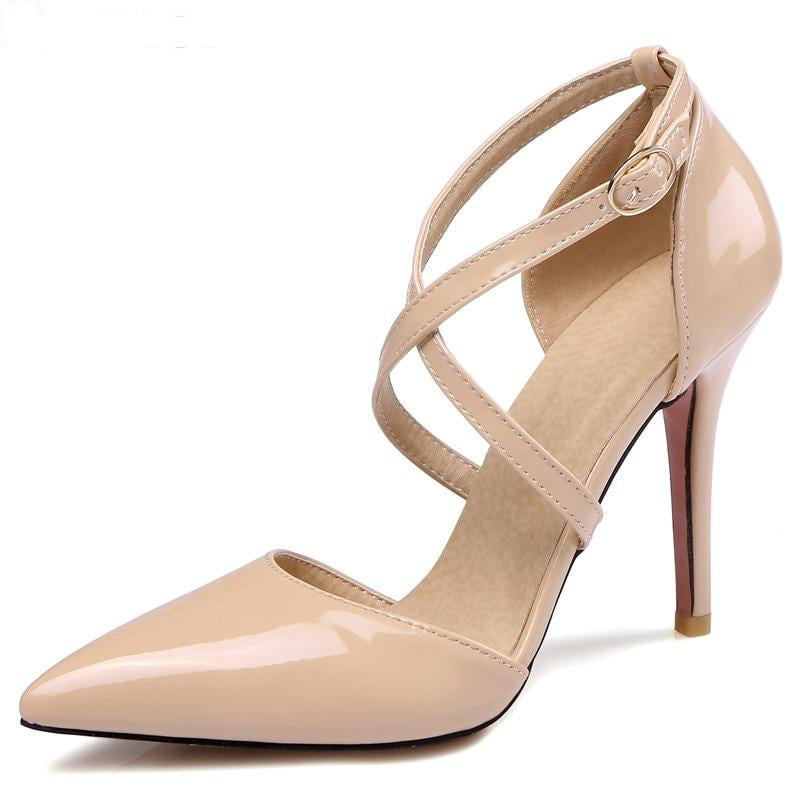 Women Pumps High Heels leather summer shoes