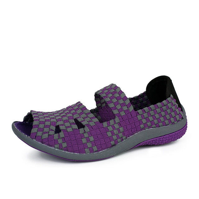 Summer Fashion Breathable Casual Slip-On Colorful Female Footwear