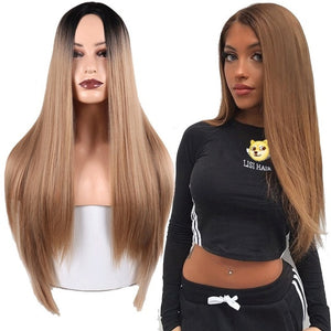 Straight and Synthetic Resistant Hair Wig