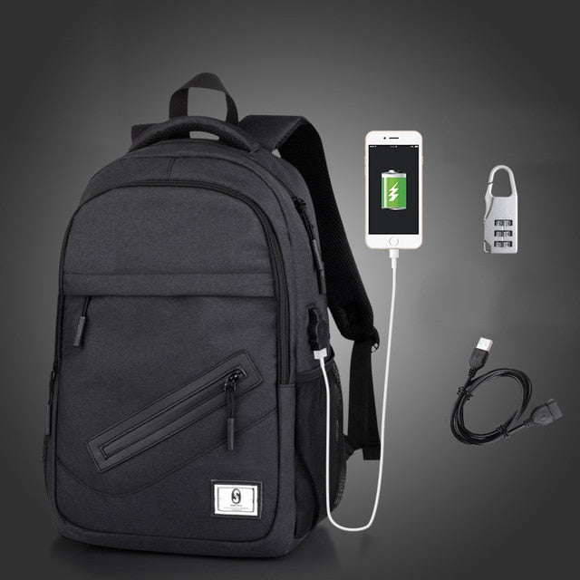 USB Charge Unisex Laptop & School Backpack