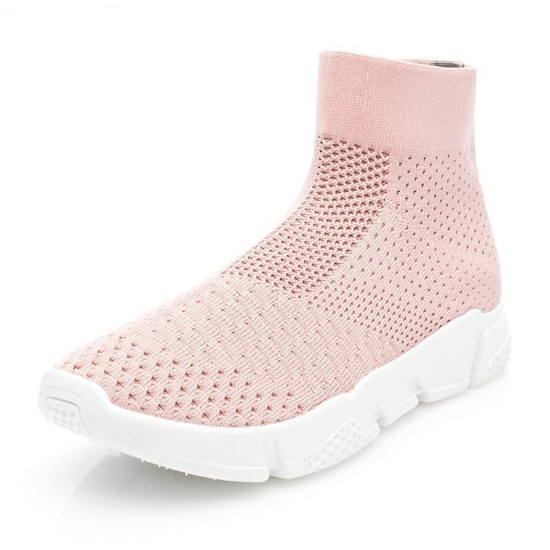 Elasticity Women Sock Sneakers High Top Comfortable Women's Shoes