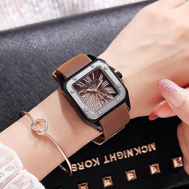 Rubber Silicon Dress Watch For Women