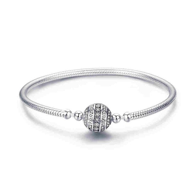 Genuine Bracelet 925 Sterling Silver Jewelry With Snake Chain Bangle & Bracelet For Women