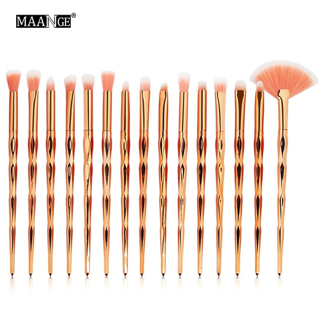 Diamond Makeup Foundation With Blending Cosmetics Beauty Make Up Brush Tool Kits 7/10Pcs