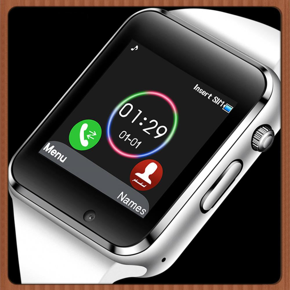 Camera SIM Card Dial Call Sync SMS Touch Screen Smart Watch