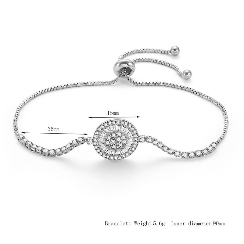 Sun Flower Transmit love With 925 Silver Colour Bracelet For Woman