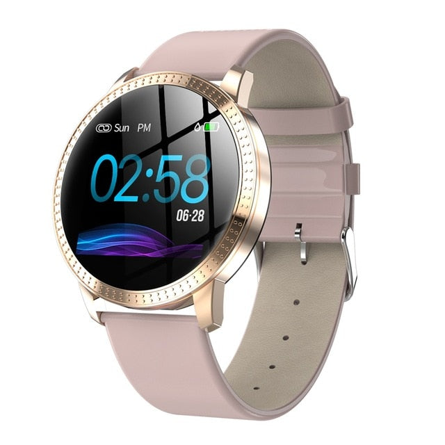 Waterproof IP67 1.22 Inch Blood Pressure Monitoring Metal Strap Multi Sport Modes Smart Watch