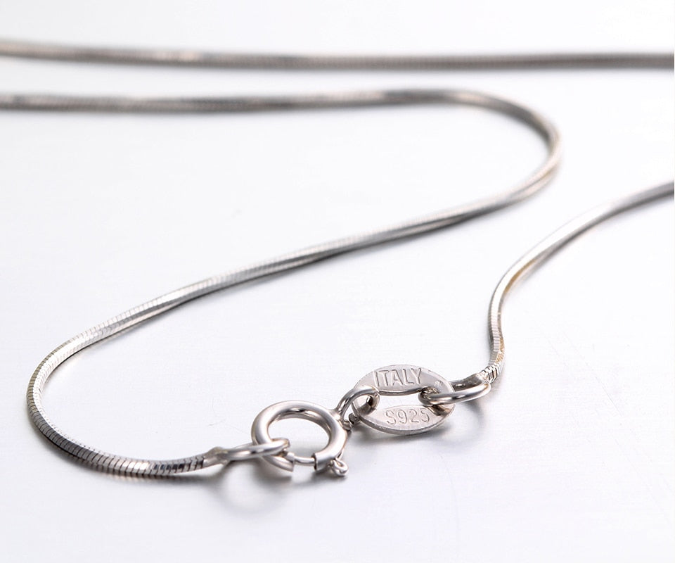 Octagon Snake Slim Chains For Women With 925 Sterling Silver