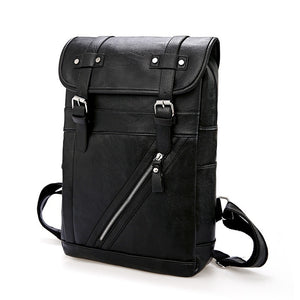 Unisex PU Leather Waterproof Travel Vintage Laptop Backpack