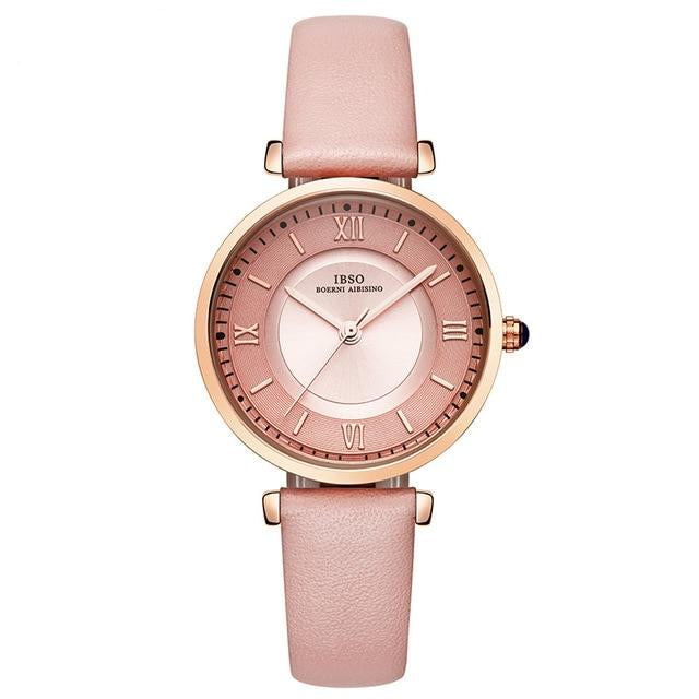 New Brand Green Genuine Leather Strap Watch For Women