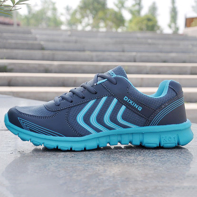 Fashion Breathable Walking Mesh Lace Up Casual Shoes