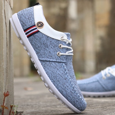 Men Casual Canvas Shoes With New Flats Brand Fashion