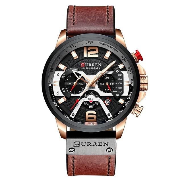 Men's Watches Top Brand Leather Strap Waterproof