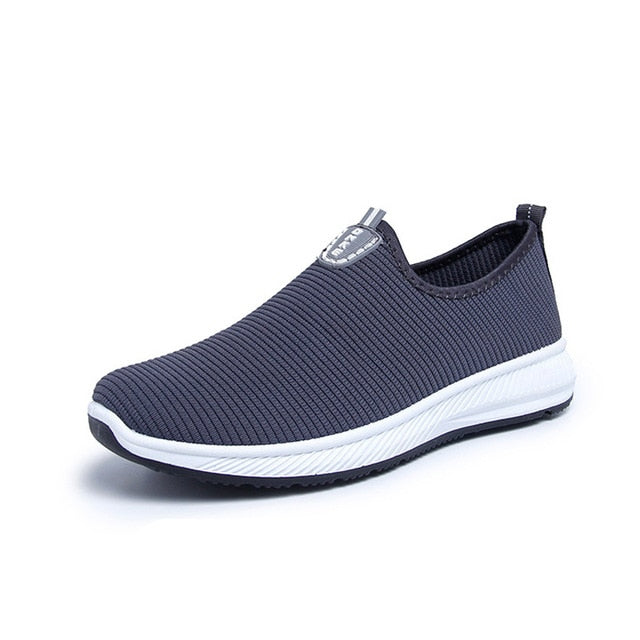 Tennis Slip-On Lightweight Mesh Shoes For Men With Casual Breathable Comfortable Walking Sneakers