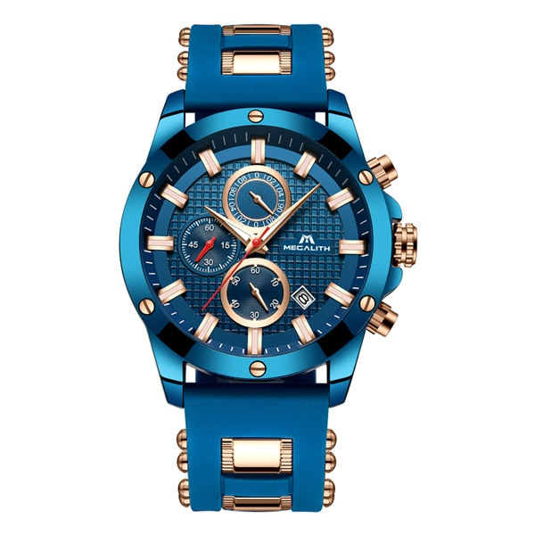 Luxury Luminous Display Waterproof Sport Chronograph Quartz Wrist Watch