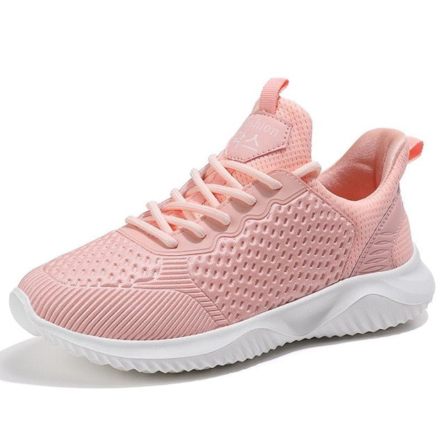Leisure Light Sneaker Women Shoes For Summer Lightweight Ventilate Elastic Wearable For Woman