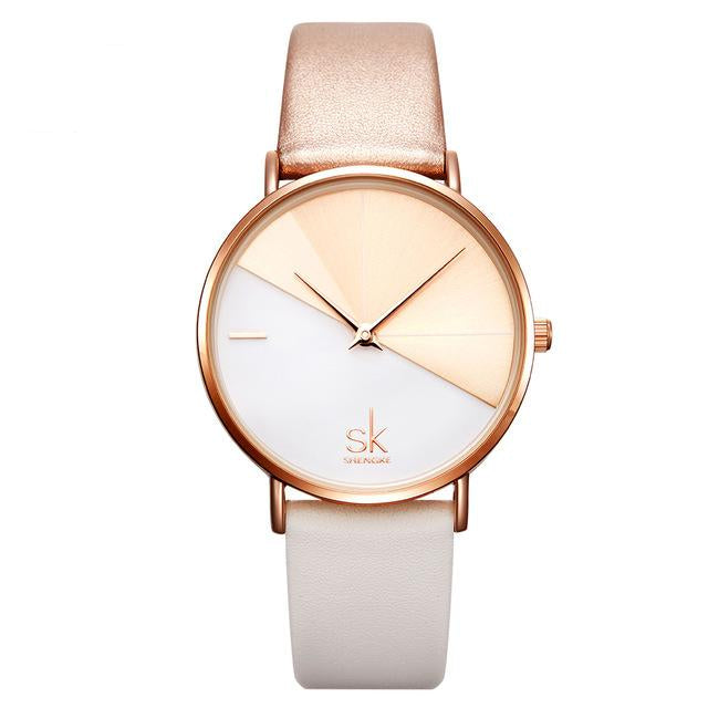 Women's Fashion Watches With Leather Belt For Women