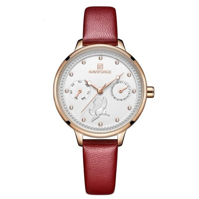 Leather Watchband Fashion Watch For Women