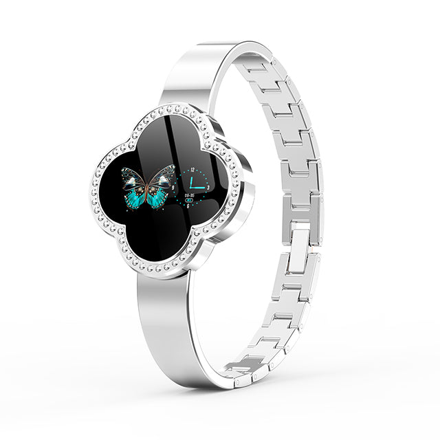 Blood Pressure Heart Rate Monitoring Smart Fitness Watch For Women