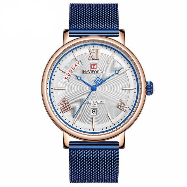Men's Business Casual Chronograph Quartz Waterproof Wristwatch