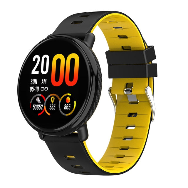 Touch Screen IP68 Waterproof Heart Rate Monitor Call Reminder Smart Watch