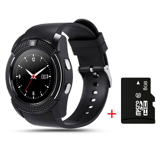Support Sim TF Card Phone Call Push Message Camera  & Bluetooth Smart Watch