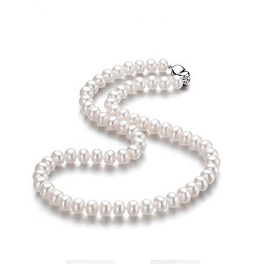 High Quality Natural Freshwater Pearl Chain Necklace For Women