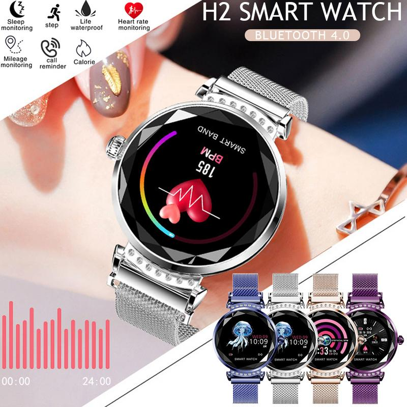Women Smart Watch Android Bluetooth Fitness Tracker Heart Rate Blood Pressure