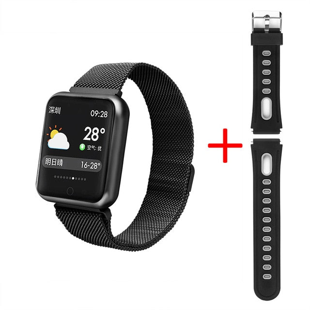 Waterproof smart watch Dynamic heart rate blood pressure monitor