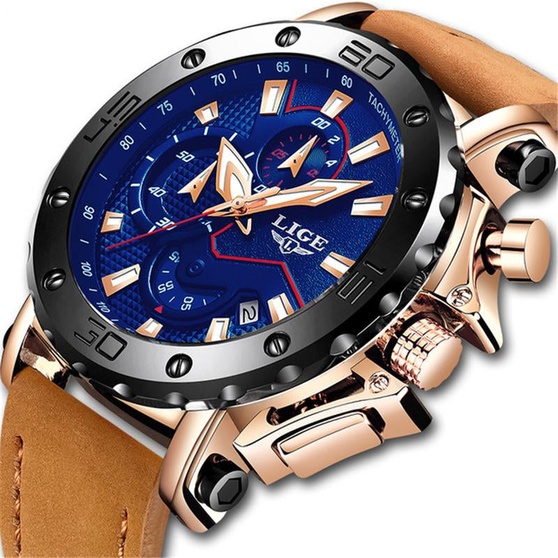 Top Brand Luxury Big Dial Chronograph Sport Watch