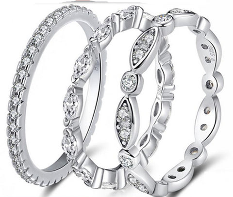 925 Sterling Silver Wedding Rings For men Women
