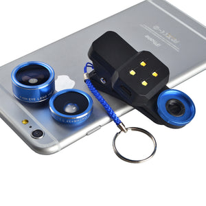 LED Smartphone Flash with Wide Angle Lens (198 Degree Fisheye)