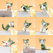 Load image into Gallery viewer, Lovely 3D Green Chi's Cat Mobile Phone Earcap Earphone Stopper Anti Jack Dust Plug For All 3.5mm Earphone Dust Plug