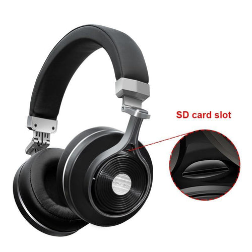 Wireless Bluetooth Headphones with Microphone/Micro SD Card Slot
