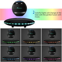 Load image into Gallery viewer, FOXNOVO Levitating Bluetooth Speaker Portable Wireless LED Floating Bluetooth Speaker Multicolor LED 360 Degree Rotating Stereo Speaker - ElectroCat