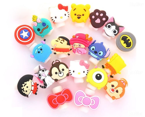 Cartoon Characters Cable Protector for Earphone and Charger Wires - ElectroCat