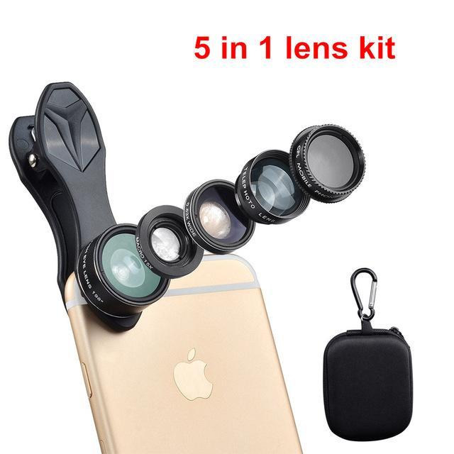 Ulanzi 5in1 Lens Kit For Smartphones And Iphone - ElectroCat