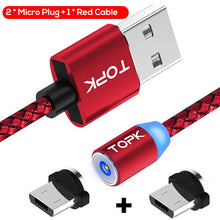 Load image into Gallery viewer, USB Cable LED Magnetic For Iphone Micro Usb And Type C - ElectroCat