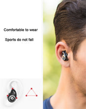 Load image into Gallery viewer, TWS Wireless Bluetooth Earphones True Stereo Earbud Waterproof Headset for Phone HD Communication Portable with Mic YZ148