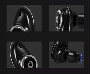 TWS Wireless Bluetooth Earphones True Stereo Earbud Waterproof Headset for Phone HD Communication Portable with Mic YZ148