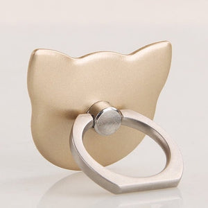 SIANCS 360 Degree Cat Ear Finger Ring SmartPhone And Iphone Holder - ElectroCat